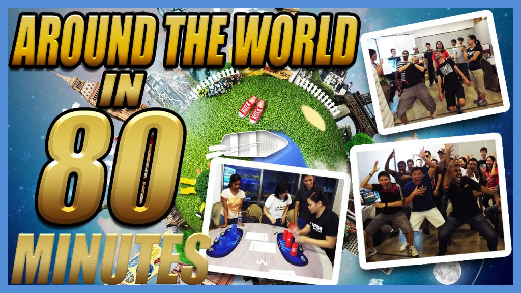 Around the World in 80 Minutes team building activity