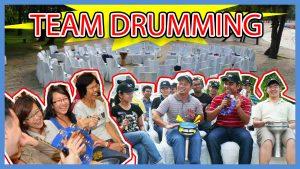 Team Drumming team building Singapore activity