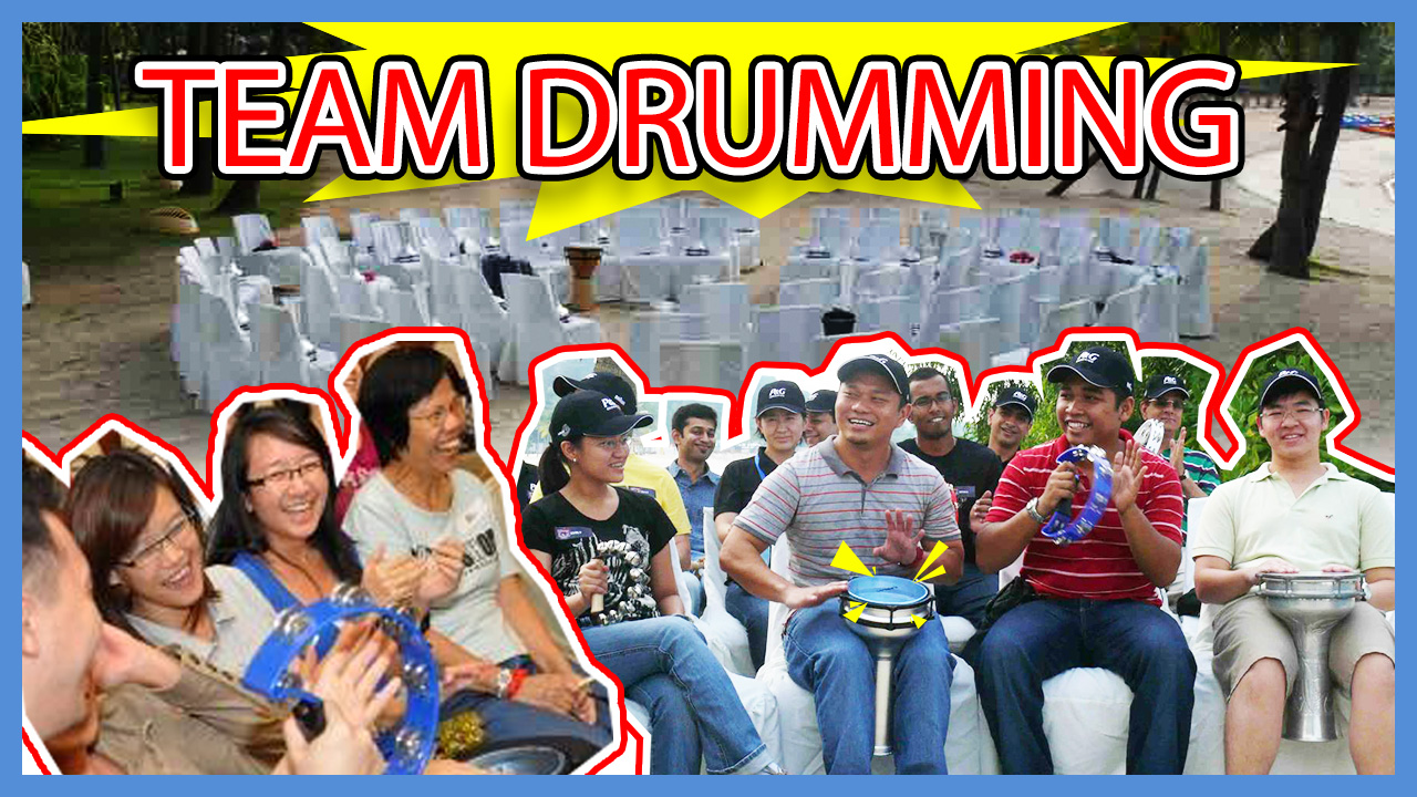 Team Drumming team building Singapore activity