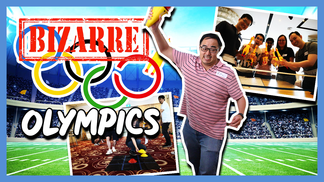 Bizarre Olympics team building activity