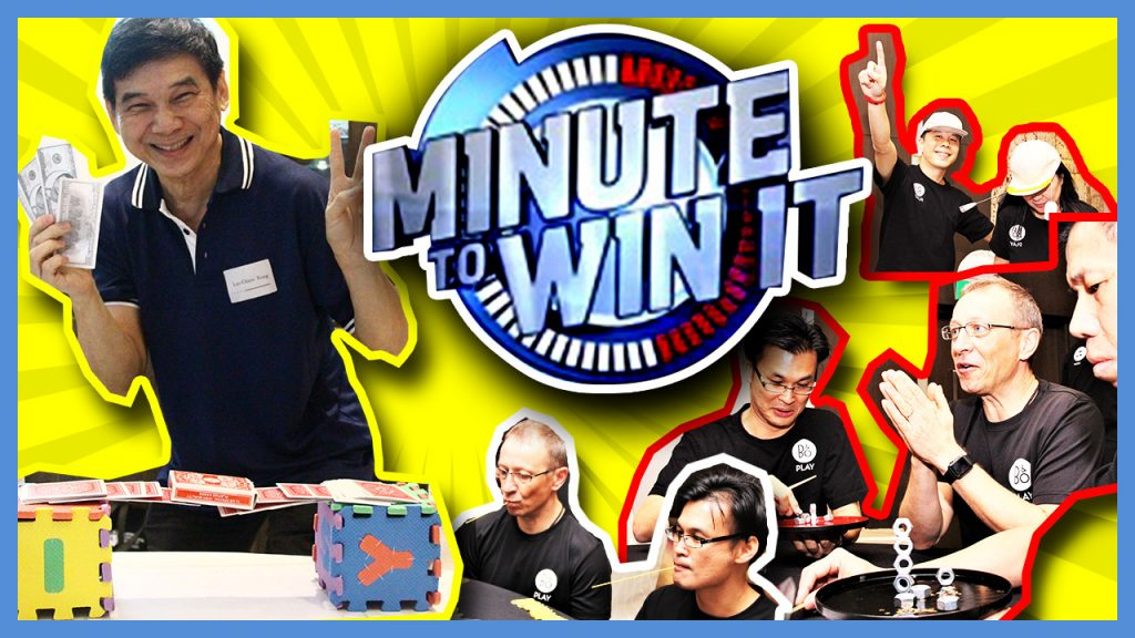 Minute to Win It Team building Singapore Activity