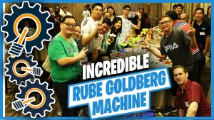 Incredible Rube Goldberg Machine team building Singapore activity