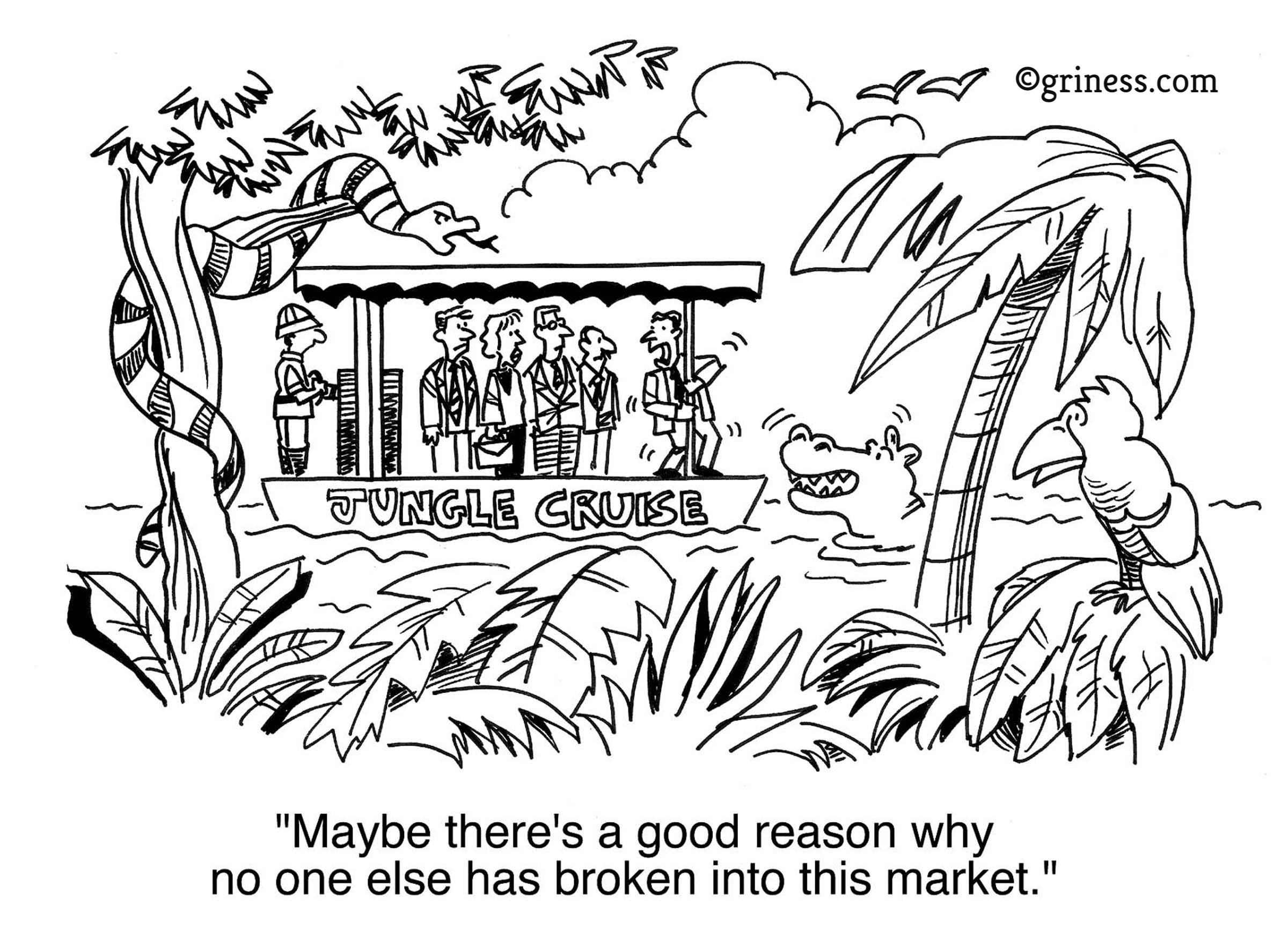 reason no one has broken into this market with griness marketing business cartoons free