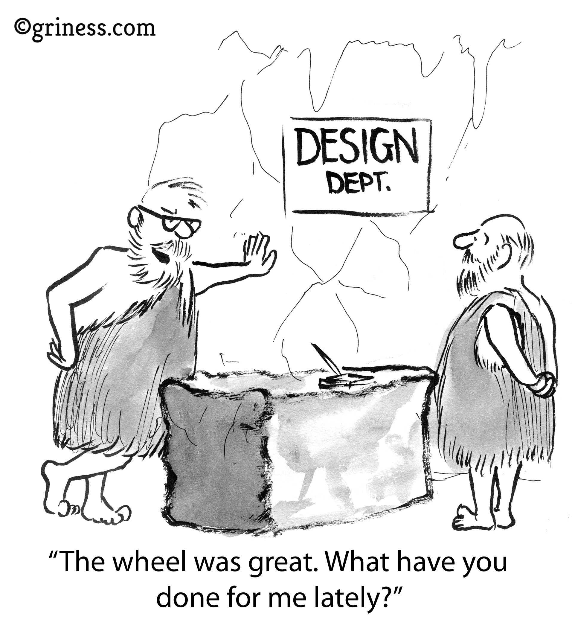 the wheel was great what have you done for me lately design thinking innovation griness com free business cartoons