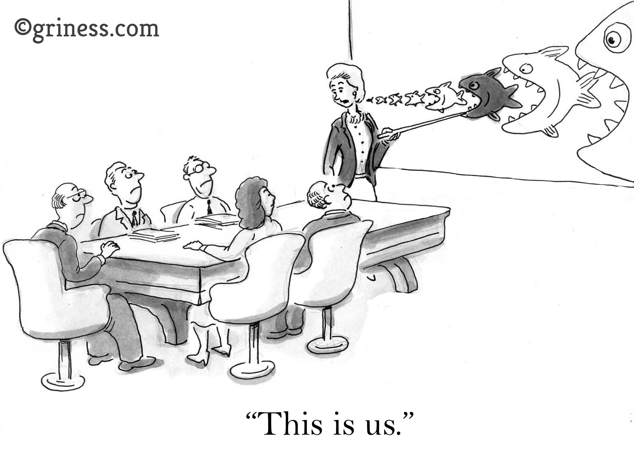 this is us competition. free business cartoons. corporate jokes