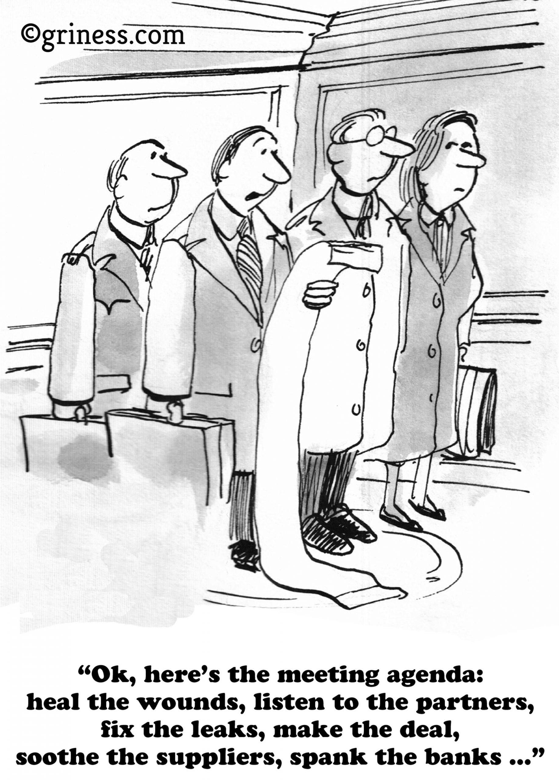 2 ok here is the meeting agenda jokes meeting comics