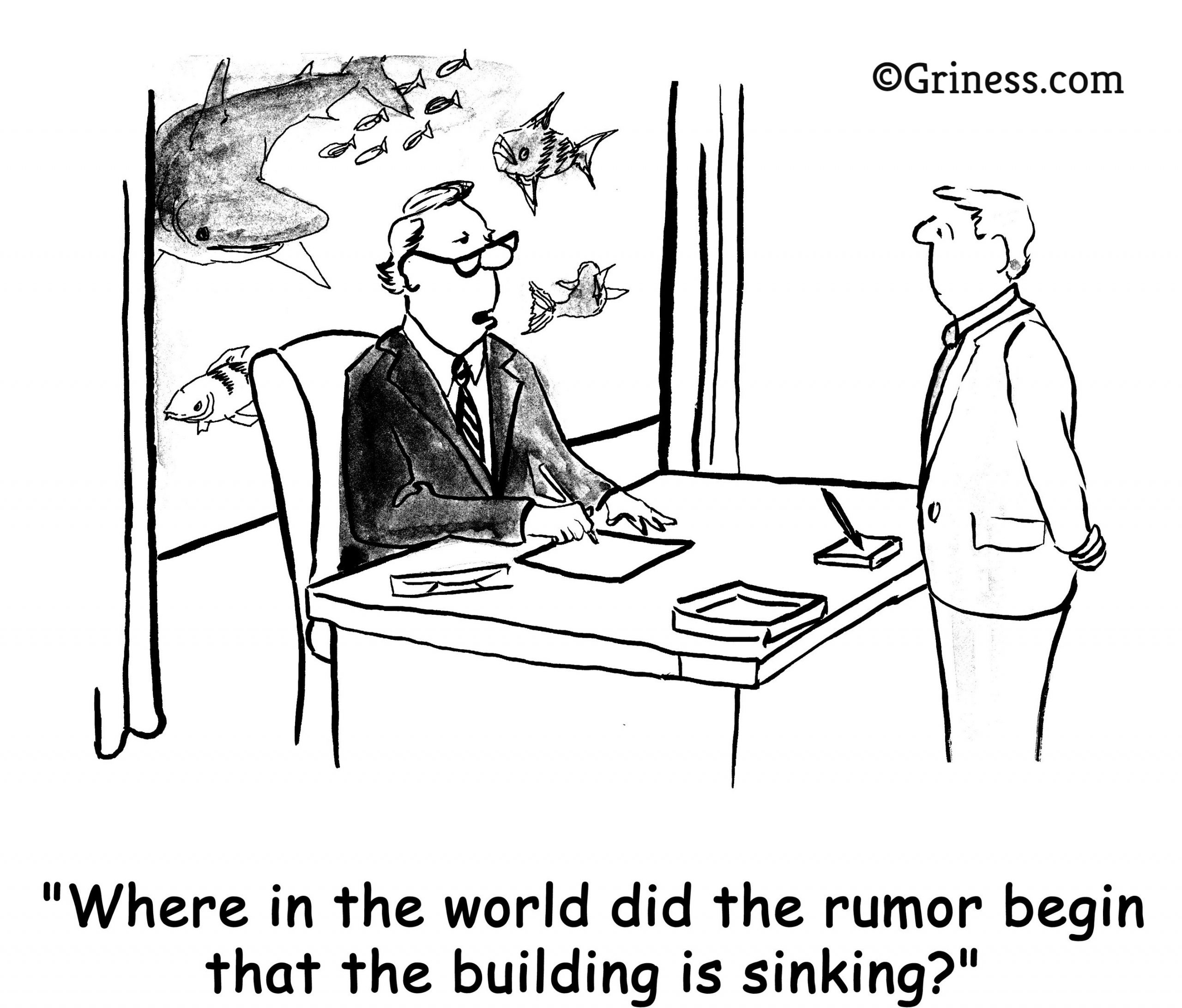 where in the world did the rumor begin that the building is sinking griness.com business cartoon free