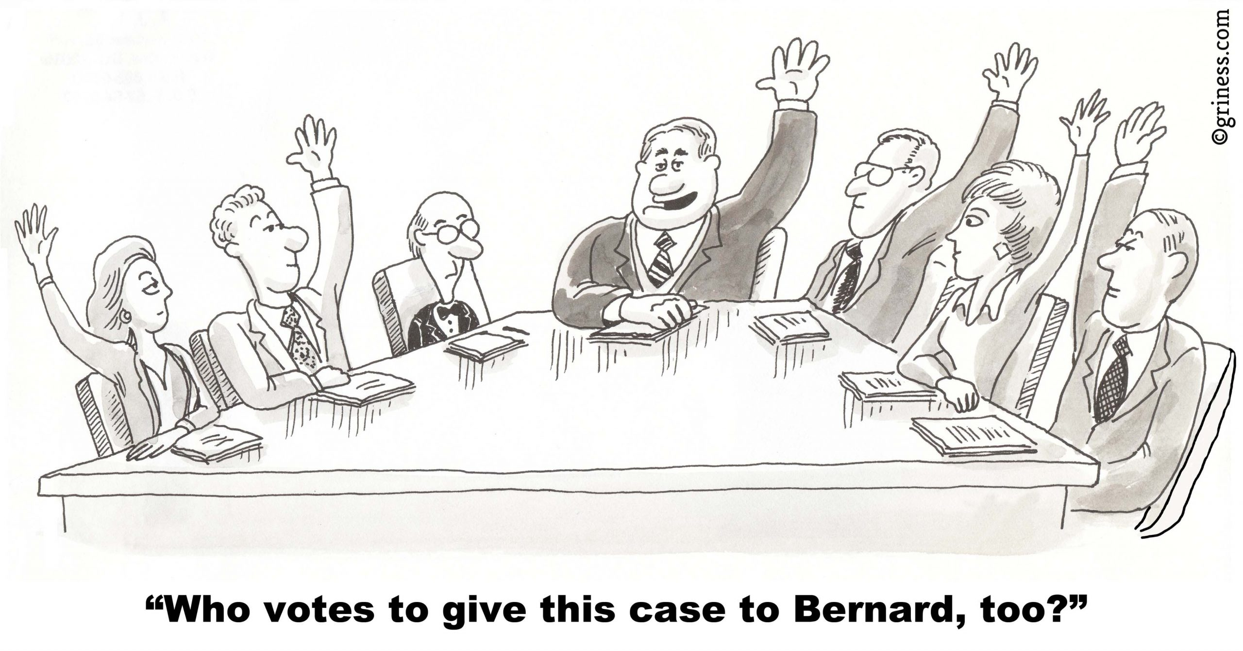 who votes to give this case to bernard too