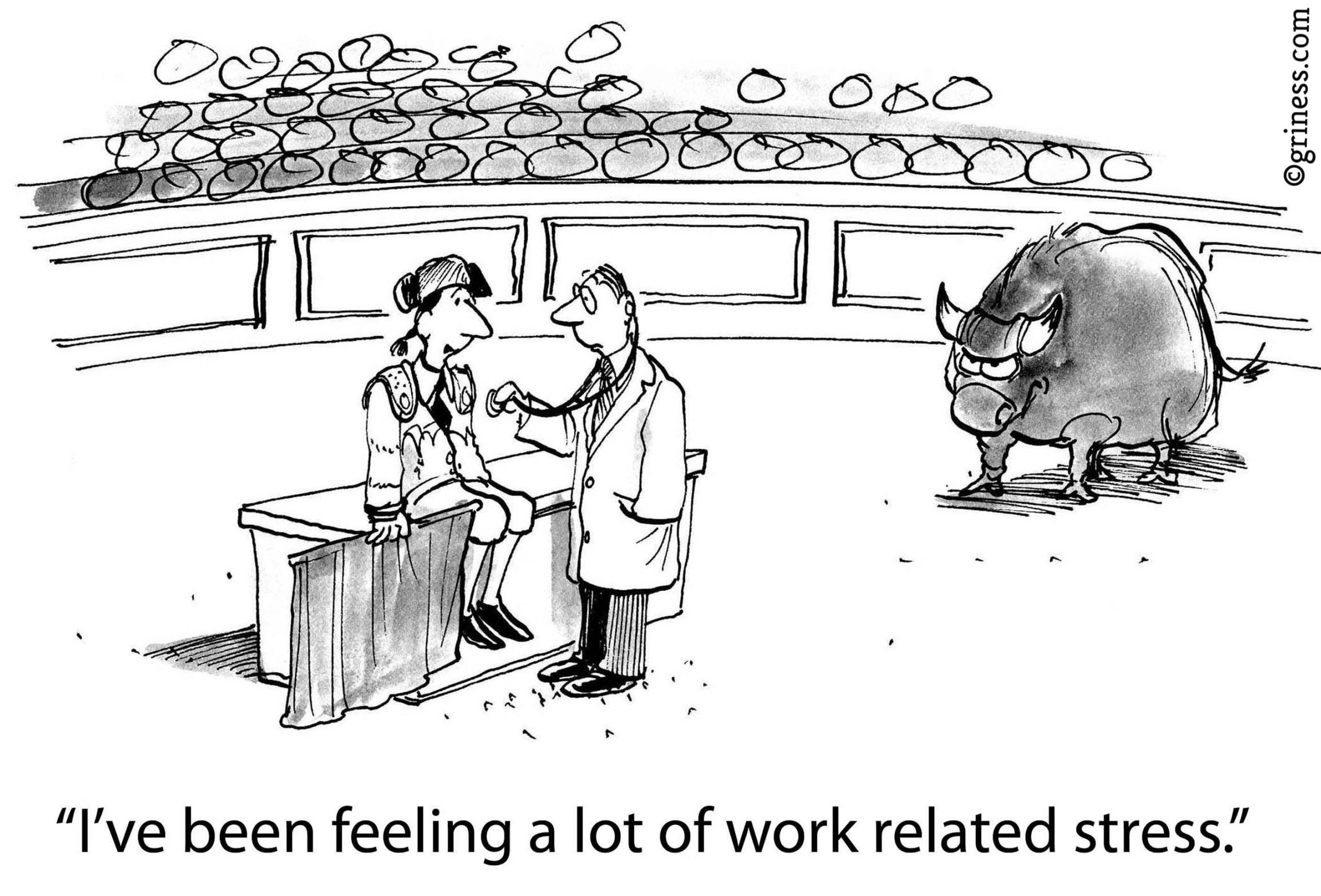 work related stress business cartoons